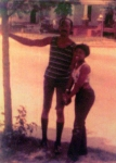 Antionette James Deloach c/o 1975 dad-n-mom in the early '70s.  Did you know my dad is 6'5' and my mom is 4'11'!