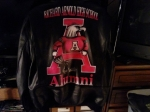 'MY NAVY LEATHER JACKET W/ SCHOOL MASCOT ON BACK'...Submitted by Anthony T. Smith c/o 1982
