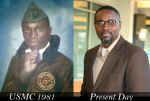 This is me when I was in the Marine Corp -- Just after my 18th birthday.  And me now...submitted by Dedoceo Habi aka Way