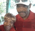 Louise Lovett c/o 74 & Bill (Willie) Taylor at the Richard Arnold picnic at Sharon Park on 09/19/15