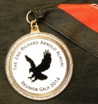 The 2014 medal given at the Richard Arnold High School Alumni Gala in Nov 2014 at the Hyatt Regency Ballroom.