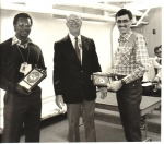 Farmer Roberts winning award during Department of Energy (DOE) recruite training 1982....Submitted by Farmer Roberts c/o
